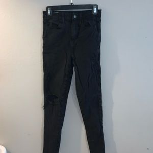 AE black ripped jeans